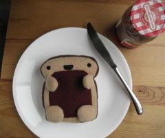 Toast With Jelly Plush by Neoitvaluocsol