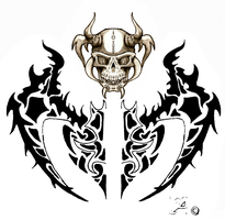 Skull with Wings by tanekxavier