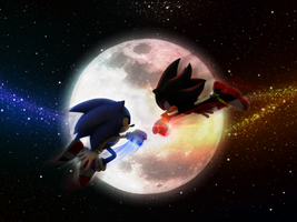 Sonic VS Shadow by mixlou