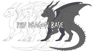 p2u dragon base/lineart by owlapin