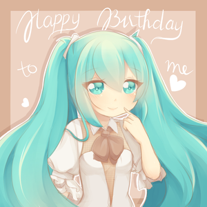 [Fanart]: Miku painting by FluffyQueenz