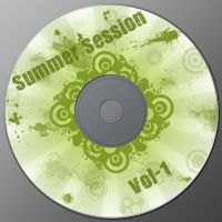 CD label sample by kandiart