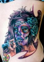 day of dead girl by tat2istcecil