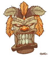 Tiki God mask by MFMugen