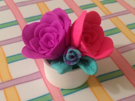 Roses In A Pill Bottle Top by glitterglues