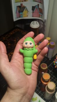 GloWorm 3D sculpt, print, and hand paint by vytera