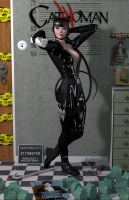 CATWOMAN 'Teenage Bedroom Heroines' Series by PaulSuttonArt