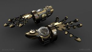 steampunk watch by Brwal