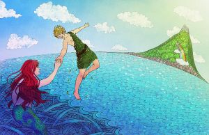 Peter Pan meets Little Mermaid by OlgaAndreyeva
