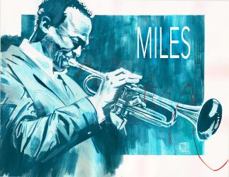 Miles Davis by Stephen-Green