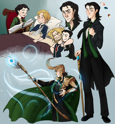 Marvel Loki Sketches by the-Orator