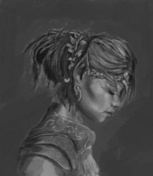 Elf Child Priestess  (Value Comp) by totopc