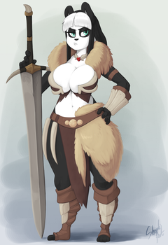 Lei the Bearbarian by Skecchiart