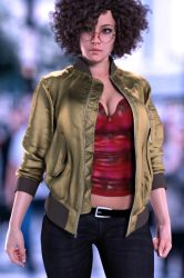 Gina casual on the street 2 by FranPHolland