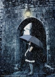 Through the rain by Ahmed-R-Shalaby
