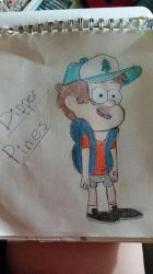 Dipper Pines (colored) by Smilecentaur