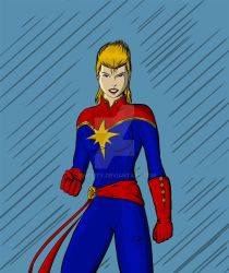 Captain Marvel by revility