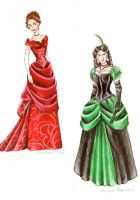 Gowns--colored by Muirin007
