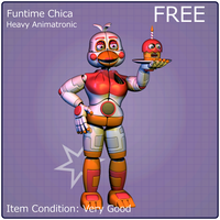 Funtime Chica (C4d Release) by 3D-Darlin
