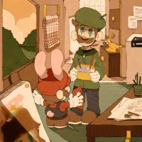 Bunny Mario wants to play with Luigi in 3DS. by Uroad7