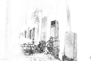 Impression of an old jewish graveyard by Griesli