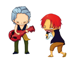 Beckman and Shanks rocking out by ElisabethHeart