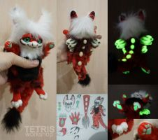 Red anthro dragon mini toy by char 1 by KrafiCat