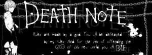 Death Note facebook cover by xander1229