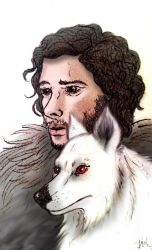 John Snow And Ghost by KarlyMacDonald