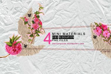 4 Materials: pink flowers by mercurycode