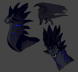 Erebus Sketches by NyxDruid