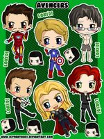 Avengers Sticker Sheet by IcyPanther1