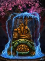Holy statue of Pandaren by Ziom05