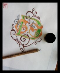 Wedding Monogram for Scroll by SymbolicProjections