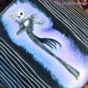 Jack Skellington Leather Tote Sneak Peek by CoreyChiev