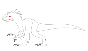 cartoon Indominus Rex base by EliteRaptor2015