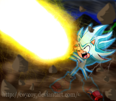 Shadic's final energy wave by coycoy