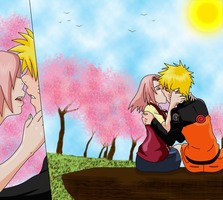 Narusaku - our first kiss by HayabusaSnake