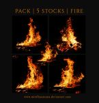 PACK - 5 STOCKS  FIRE by MirellaSantana