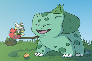 Bulbasaur and Flabebe