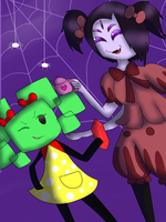 SPM / Undertale | Caught in Our Web! by Minish-Mae