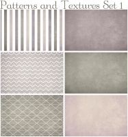 Patterns and Textures Set One by ibjennyjenny