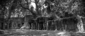 Fort Fremont Black and White by Bawwomick