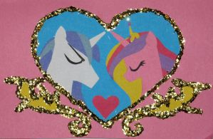 Cadance and Shining Armor Anniversary Card by WhiteHeather