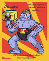 Padded Pokedex 067: Machoke by Pawprint-Padding
