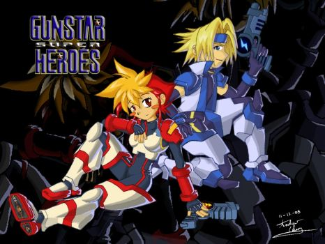 Gunstar Super Heroes by carefreecaptain