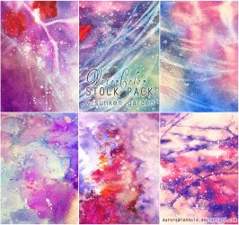 A sunken garden - WATERCOLOR STOCK PACK by RoryonaRainbow