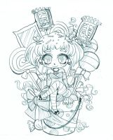 Candy Arrangement Chibi Commission - Sketch by YamPuff