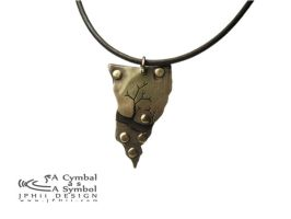 Drum Cymbal Necklace #104 by jphiijewelry