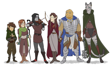 DnD: Height Chart by jovishark